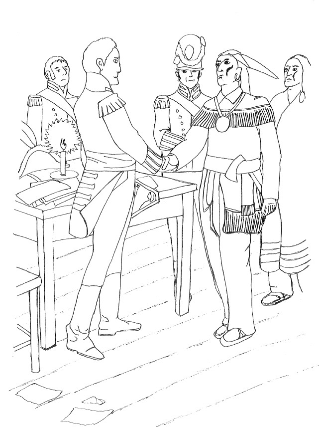 Kid 39 s page the war of 1812 chatham kent for Cold war coloring pages
